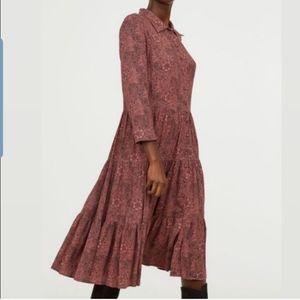 Morris & co H&M flowy floral boho Midi Dress 2 XS